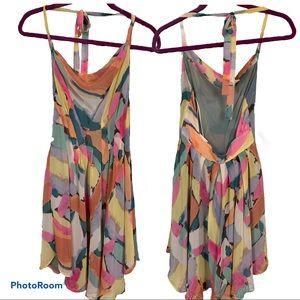RACHEL Rachel Roy open back halter pleated dress 6